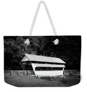 Ohio Covered Bridge In Black And White Weekender Tote Bag