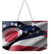 Ohio State Flag Weekender Tote Bag