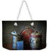 Oil And Kerosene Cans Weekender Tote Bag