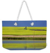 Oil Jack Reflection Saskatchewan Weekender Tote Bag