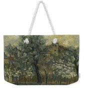 Oil Painting House Tree Weekender Tote Bag