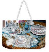 Oil Painting Still Life China Tea Set Weekender Tote Bag
