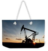 Oil Pumper At Sunset Weekender Tote Bag