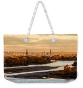 Oil Refinery At Sunset Weekender Tote Bag