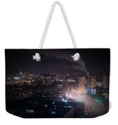 Oil Style City At Night Image Weekender Tote Bag