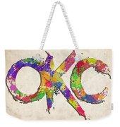 Okc Typography Watercolor Weekender Tote Bag
