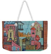 Oklahoma City Bricktown Mosaic Wall Weekender Tote Bag