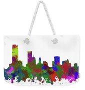 Oklahoma City Skyline Painted Weekender Tote Bag