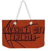 Oklahoma City Thunder Leather Art Weekender Tote Bag