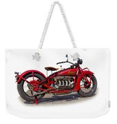 Old 1930's Indian Motorcycle Weekender Tote Bag