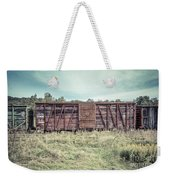 Old Abandoned Box Cars Central Vermont Weekender Tote Bag