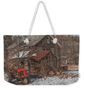 Old Abandoned Farm Homestead Weekender Tote Bag
