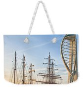 Old And New At Gunwharf Quays Weekender Tote Bag
