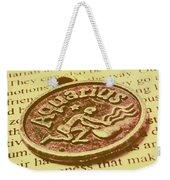 Old Aquarius Astrology Weekender Tote Bag