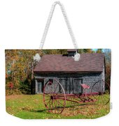 Old Barn And Rusty Farm Implement 02 Weekender Tote Bag