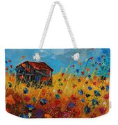 Old Barn And Wild Flowers Weekender Tote Bag