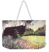 Old Barn And Wildflowers Weekender Tote Bag