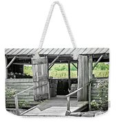 Old Barn At The Farm On Sunny Day Weekender Tote Bag