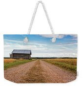 Old Barn By The Gravel Road Weekender Tote Bag