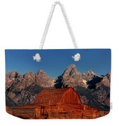 Old Barn Grand Tetons National Park Wyoming Weekender Tote Bag by Dave Welling