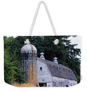 Old Barn In Field Weekender Tote Bag