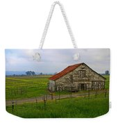 Old Barn In The Mustard Fields Weekender Tote Bag