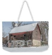 Old Barn In Upper Roxborough In The Snow Weekender Tote Bag