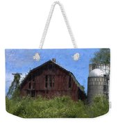 Old Barn On Summer Hill Weekender Tote Bag