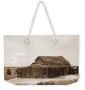 Old Barn With Mount Adams In Sepia Weekender Tote Bag