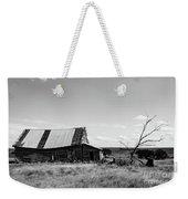 Old Barn With Tree Weekender Tote Bag