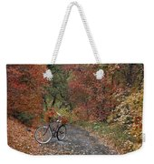 Old Bike In Autumn Weekender Tote Bag