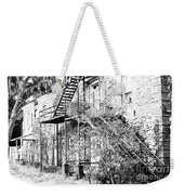 Old Black And White House  Weekender Tote Bag