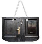 Old Black Closed Door Weekender Tote Bag