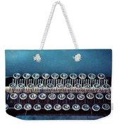 Old Blue Typewriter Weekender Tote Bag