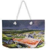 Old Boat On Shore Weekender Tote Bag