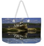 Old Boat Reflection Weekender Tote Bag