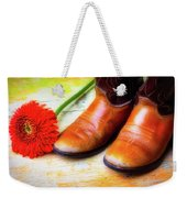 Old Boots And Daisy Weekender Tote Bag