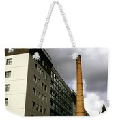 Old Brick Chimney Amongst Modern Office Buildings Near The Railway Station Perugia Umbria Italy Weekender Tote Bag
