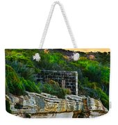 Old Brick Fence Built To The Edge Weekender Tote Bag