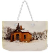 Old Brick Schoolhouse In Winter Weekender Tote Bag