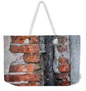 Old Brick Wall Abstract Weekender Tote Bag