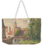 Old Bridge In Bruges  Weekender Tote Bag by Camille Pissarro