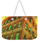Old Empty Building In Retro Colors Weekender Tote Bag
