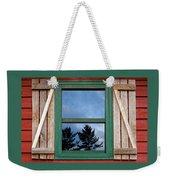 Old Cabin Window Weekender Tote Bag