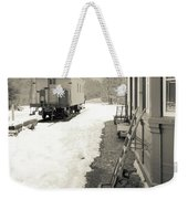 Old Caboose At Period Train Depot Winter Weekender Tote Bag