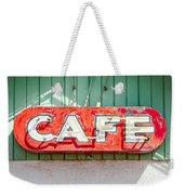 Old Cafe Sign Weekender Tote Bag