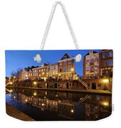 Old Canal In Utrecht At Dusk 211 Weekender Tote Bag
