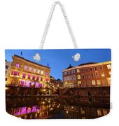 Old Canal In Utrecht In The Evening 4 Weekender Tote Bag