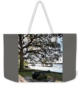 Old Cannon By The Sea Weekender Tote Bag