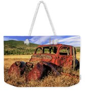 Old Car At Susanville Ranch Weekender Tote Bag